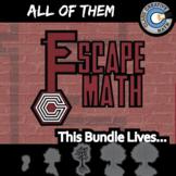 Escape Math -- ALL OF THEM -- Grades (3-12) -- 22+ Escape the Room Math Games