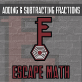 Escape Math - Adding & Subtracting Fractions (Insect Theme) -- Escape the Room