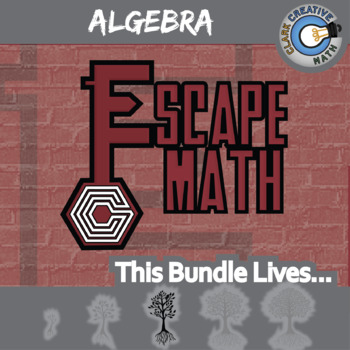 Escape Math -- Algebra 1 -- 8+ Escape the Room Math Games