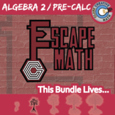 Escape Math -- Algebra 2 / Pre-Calc -- 5+ ESCAPE THE ROOM Math Games