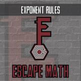 Escape Math - Exponent Rules (Dinosaur Theme) -- Escape the Room Style Activity