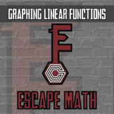 Escape Math - Graphing Linear Functions - Escape the Room Style Activity