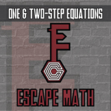 Escape Math - One & Two-Step Equations -- Escape the Room Style Class Activity