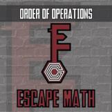 Escape Math - Order of Operations (Yellowstone Theme) -- Escape Room Class