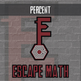 Escape Math - Percent (Ben Franklin Theme) -- Escape the Room Style Activity
