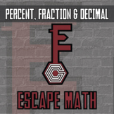 Escape Math - Percent, Fraction & Decimal -- Escape the Room Style Activity