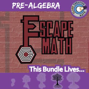Escape Math -- Pre-Algebra -- 13+ Escape the Room Math Games