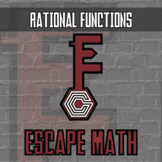 Escape Math - Rational Functions - Escape the Room Style Activity