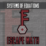 Escape Math - Systems of Equations & Inequalities - Escape the Room Activity