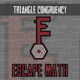 Escape Math - Triangle Congruency (Egypt Theme) - Distance Learning Compatible