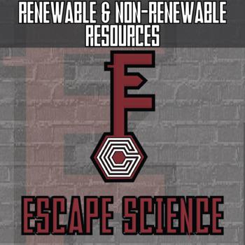 Escape - Renewable and Non-Renewable Resources - Escape the Room Style Activity