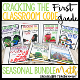 Escape Room 1st Grade Math Seasonal Bundle Cracking the Classroom™ Code
