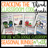 Escape Room 3rd Grade Math Seasonal Bundle Cracking the Classroom Code™