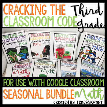 Escape Room 3rd Grade Math Seasonal Bundle Cracking the ...