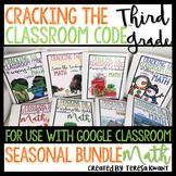 Escape Room 3rd Grade Math Seasonal Bundle
