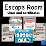 Escape Room Starter Kit Certificates and Clues DIY Escape Room