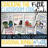 Escape Room 5th Grade Math Seasonal Bundle Cracking the Classroom Code™