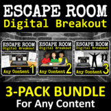 Escape Room - Digital Breakout for ANY CONTENT - BUNDLE