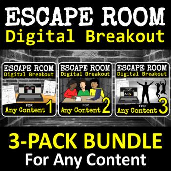 Escape Room - Digital Breakout for ANY CONTENT - BUNDLE