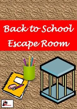 Escape Room Activity - Back to School