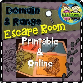 Escape Room Activity: Domain and Range
