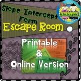 Slope-Intercept Form: Escape Room Activity