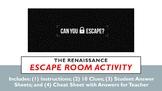Escape Room Activity!  The Renaissance