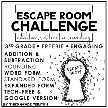 Escape Room FREEBIE - Rounding, Addition, and Subtraction