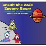 Escape Room (Alien Spaceship)-2nd Grade Math Computation & Word Problems