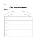 Escape Room Answer Sheet