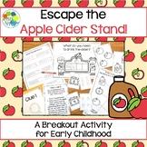 Escape Room: Apple Cider Stand! Breakout Activity for Pre-K and Kindergarten