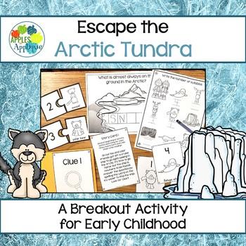 Escape Room: Arctic Tundra! Syllables Breakout Activity