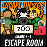 Escape Room: At the Zoo Math Mystery Grades 2-3