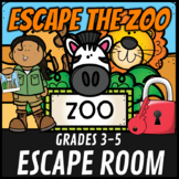 Escape Room: At the Zoo Math Mystery Grades 3-5