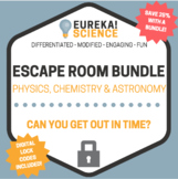 Science Escape Room BUNDLE! Chemistry, Physics and Astronomy