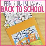 Escape Room - Back to School