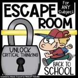Escape Room ... Back to School