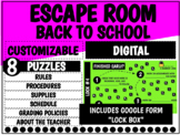 Escape Room: Back to School Breakout   Distance Learning