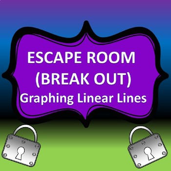 Escape Room (Break Out) Graphing Linear Equations*slope intercept and standard*