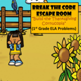 Escape Room (Build the Thanksgiving Cornucopia)-1st Grade Language Arts