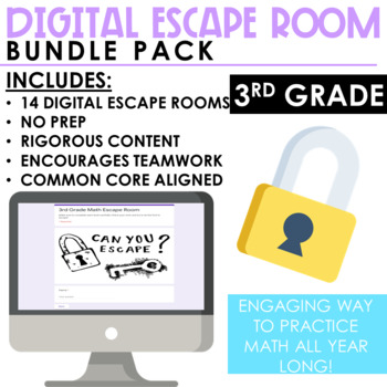 Escape Room Bundle Pack - 3rd Grade