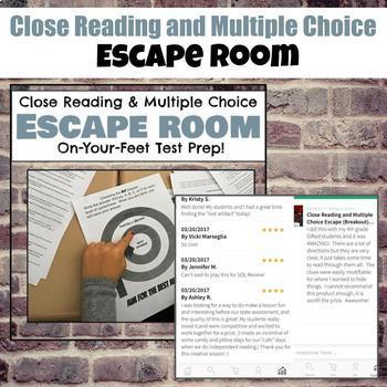 Escape Room Bundle: Poetry, Close Reading and Multiple Choice, Literary Devices