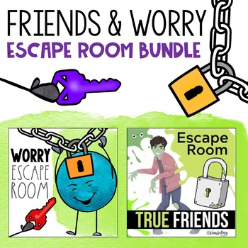 Escape Room Bundle for Friendship and Worry