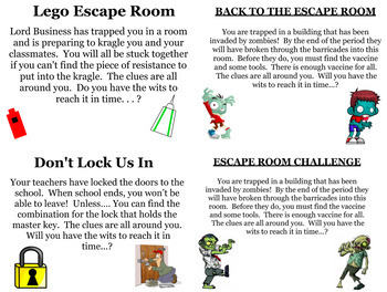 Escape Room Bundle for Summer School or End of the Year