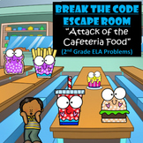 Food-2nd Grade Digital Escape Room-Distance Learning-Google Forms-Reading