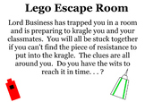 Escape Room Challenge with systems of equations, order of