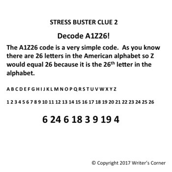 Escape Room Cipher Codes, Test Stress Relief Tips, Fun, Problem Solving