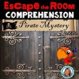 Escape Room Comprehension Pirate Mystery 1st grade - 3rd grade