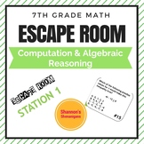 Escape Room- Computation and Algebraic Reasoning