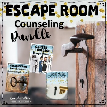 Escape Room Counseling Bundle (Careers, College and Social Emotional Fun)